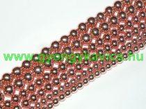 Rózsaarany Hematit Ásványgyöngy 6mm