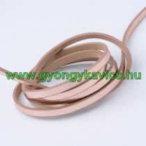 Rózsaarany Műbőr Szál 5x2mm 1,2m