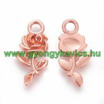 Rózsaarany Virág Rózsa Medál Köztes 21x10,5mm