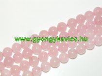Rózsakvarc Ásványgyöngy Gyöngyfüzér 12mm