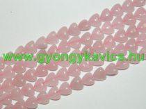 Rózsakvarc Szív Ásványgyöngy Gyöngyfüzér 10mm