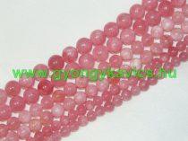 Rózsaszín Angelit Ásványgyöngy 6mm