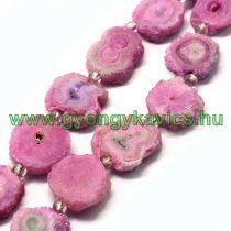 Rózsaszín Druzy Kvarc Ásványgyöngy 10-23mm