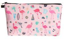 Rózsaszín Flamingó Kistáska Neszeszer Tároló Kozmetikai Táska 22x14cm