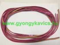 Rózsaszín Flitteres Műbőr Szál 5x2mm 1,2m