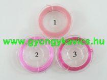 Rózsaszín Lapos Gumis Damil 0.8mm 10m (2-es szín)
