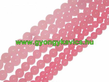 Rózsaszín Pink Jade Ásványgyöngy Gyöngyfüzér 12mm