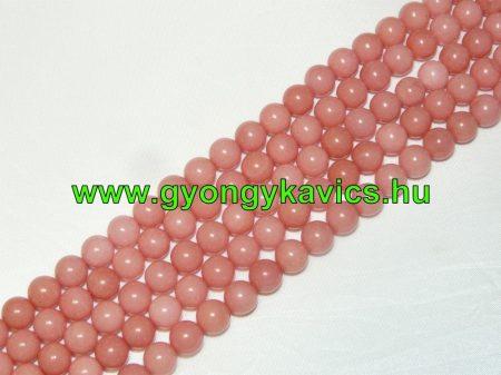 Rózsaszín Jade Ásványgyöngy Gyöngyfüzér 6mm
