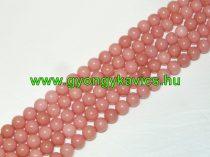 Rózsaszín Jade Ásványgyöngy 6mm