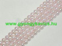 Rózsaszín Kagyló Gyöngy Gyöngyfüzér 10mm