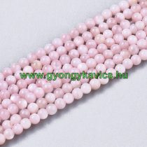 Rózsaszín Kagyló Gyöngy Gyöngyfüzér 2mm