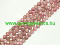 Rózsaszín Kagyló Gyöngy 6mm