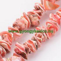 Rózsaszín Kagyló Törmelék Gyöngy Gyöngyfüzér Splitter 3-20mm