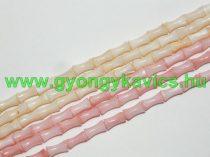 Rózsaszín Oszlop Kagyló Gyöngy 9x4mm