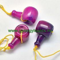 Rózsaszín Lila Jade Guru Gyöngy 21x11mm