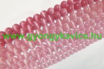Rózsaszín Macskaszem (Üveg) (sötét) Ásványgyöngy 10mm