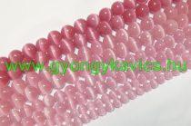 Rózsaszín Macskaszem (Üveg) (sötét) Ásványgyöngy Gyöngyfüzér 10mm