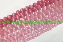 Rózsaszín Macskaszem (Üveg) (világos) Ásványgyöngy Gyöngyfüzér 8mm