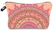 Rózsaszín Mandala Jóga Kistáska Neszeszer Tároló Kozmetikai Táska 22x14cm