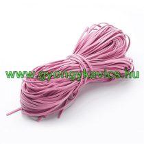 Rózsaszín Műbőr Velúr Szál 3mm 1m