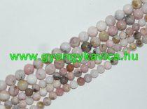 Rózsaszín Opál Ásványgyöngy Gyöngyfüzér 10mm