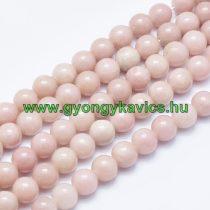 Rózsaszín Opál (egyszínű) Ásványgyöngy 10mm