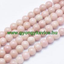 Rózsaszín Opál (egyszínű) Ásványgyöngy 6mm