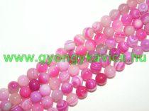 Rózsaszín Pink Achát Ásványgyöngy 8mm