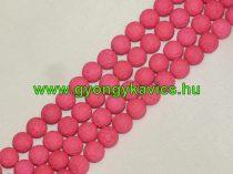 UV Rózsaszín Pink Lávakő Ásványgyöngy Gyöngyfüzér 6mm