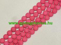 UV Rózsaszín Pink Lávakő Ásványgyöngy 6mm