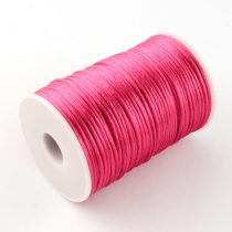 Rózsaszín (79) (sötét) Szatén Szál Poliészter Szál 2.0mm 2mm 1m