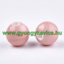 Rózsaszín Porcelán Gyöngy 10mm