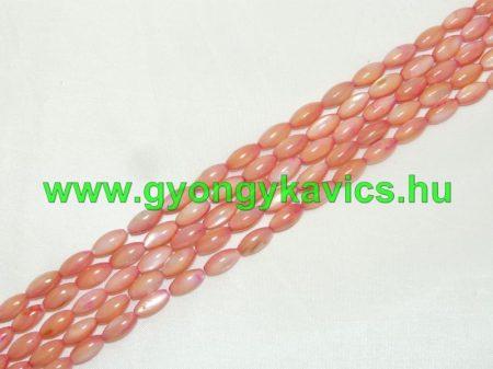Rózsaszín Rizsszem Kagyló Gyöngy 10x5mm