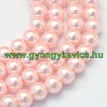 Rózsaszín Szintetikus Kagyló Gyöngy Gyöngyfüzér 8mm