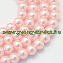 Rózsaszín Szintetikus Kagyló Gyöngy 8mm
