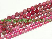 Rózsaszín Tengeri Jáspis Regalit Ásványgyöngy Gyöngyfüzér 6mm