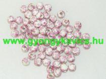 Rózsaszín Virágos Porcelán Gyöngy 8mm