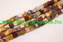 Rusztikus Mookait Jáspis Kocka Ásványgyöngy Gyöngyfüzér 9-12x9-12mm