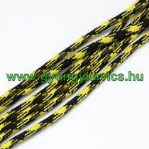 Sárga Fekete Parakord Zsinór 4mm (1m)