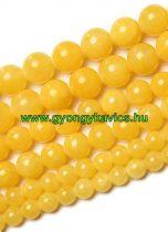 Sárga Jade Ásványgyöngy  6mm