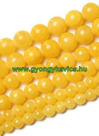 Sárga Jade Ásványgyöngy Gyöngyfüzér 6mm