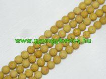 Sárga Lávakő Ásványgyöngy 8mm