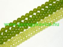 Sárgászöld Jade Ásványgyöngy 10mm