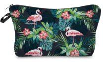 Sötétkék Flamingó Kistáska Neszeszer Tároló Kozmetikai Táska 22x14cm