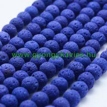 Kék Lávakő (sötét) Ásványgyöngy Gyöngyfüzér 10mm
