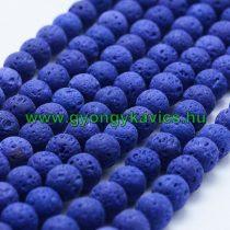 Kék Lávakő (sötét) Ásványgyöngy 10mm
