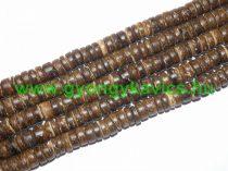 Sötét Kókusz Fagyöngy Korong Gyöngyfüzér 8x2,5-5mm