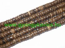 Sötét Kókusz Fagyöngy Korong 8x2,5-5mm