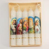 Szentképes Fehér Egyenes Gyertya 11,2x1,65cm (5db)