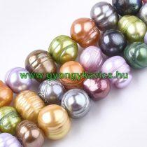 Színes Kagyló Gyöngy Gyöngyfüzér 8-10x7-9mm